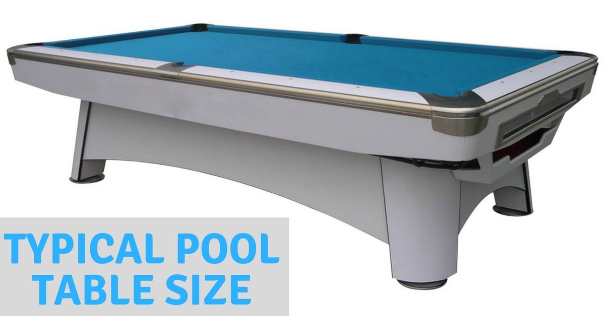 measure pool table