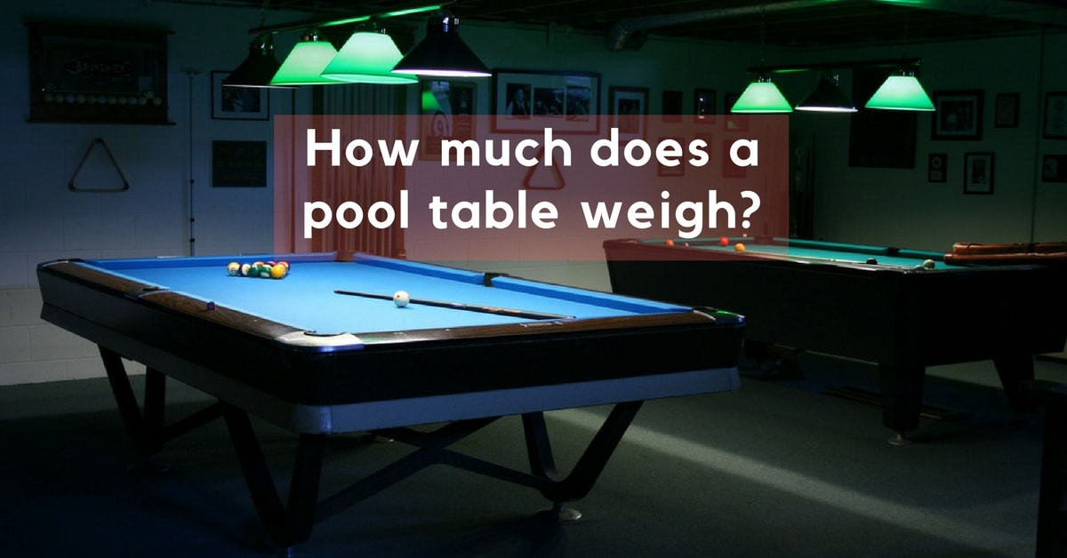 How Much Does A Pool Table Weigh GoSports Reviews - How much room for a pool table