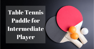 Best Table Tennis Paddle For Intermediate Player 2018